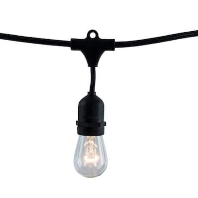 Bulbrite 14 ft, 10-Socket (E26) Decorative String Light Kit, Black