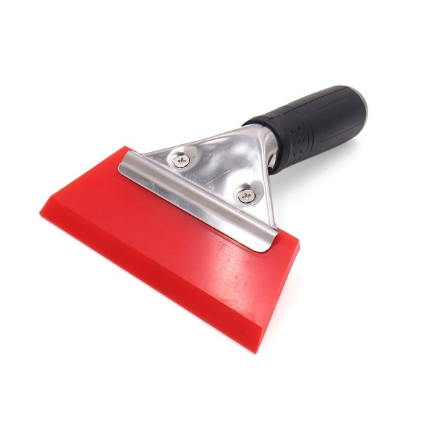 Black Handle Red Rubber Car Ice Scraper Window Snow Removal Clean Tool