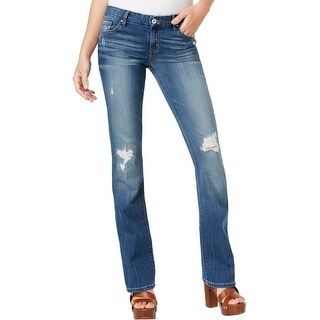 Guess Womens Slim Bootcut Jeans Denim Destroyed