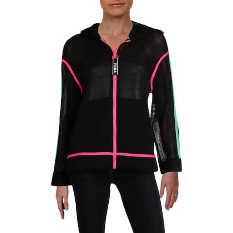 Puma Womens Chase Spacer Hoodie Yoga Fitness - S