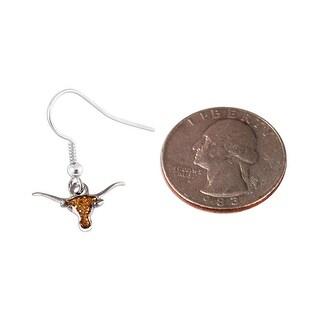 Texas Longhorns Glitter Sparkle Dangle Logo Earring Set Charm Gift