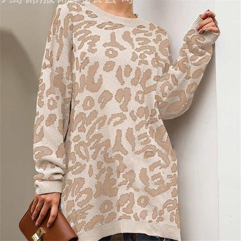 Women's Autumn Pullover Leopard Sweater