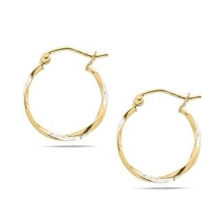 Forever Last 10 kt Gold 20 mm Twisted tube hoops Earrings