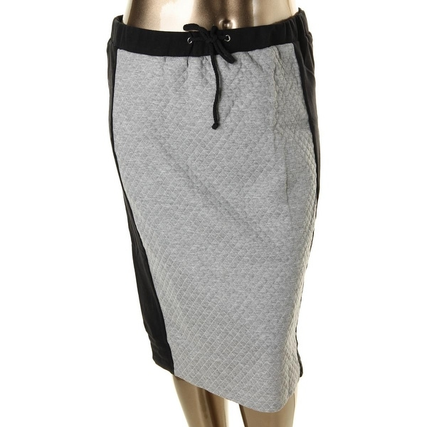 Soprano Womens Plus Straight Skirt Quilted Heathered - 2X