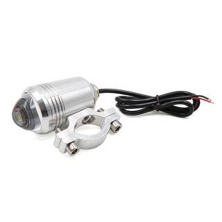 Silver Tone White Light DC 12V LED Bulb Fisheye Lamp Spotlight for Motorcycle