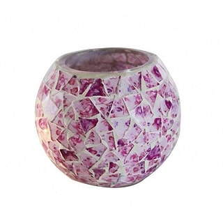Link to Mosaic Glass Floral Rose Candle Holder Similar Items in Decorative Accessories