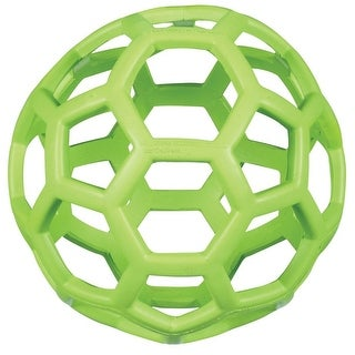 JW Pet 43112 Hol-ee Roller Ball Rubber Treat Dispenser For Dog , Large, Green