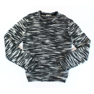 CALVIN KLEIN JEANS NEW Black Mens Size 2XL Crewneck Wool Knit Sweater