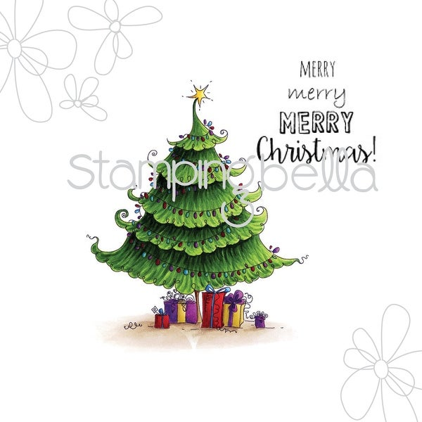 """Stamping Bella Cling Stamp 6.5""""X4.5""""-Uptown Christmas Tree"""
