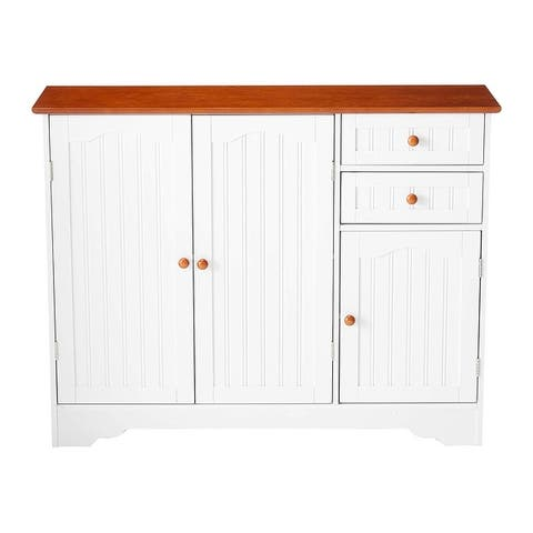 """Pilaster Designs Carson 39""""W Kitchen Pantry Sideboard Buffet Cabinet"""