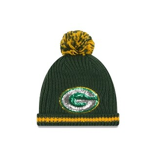 Green Bay Packers 2016 Sequin Frost Women's Knit Hat