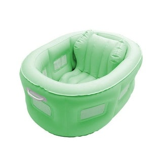 4-in-1 Room to Grow Portable Green Inflatable Baby Bathinet