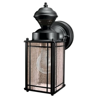 Heath Zenith SL-4135-BK Shaker Cove 1 Light 150 Degree Motion Activated 60 Watt Decorative Security Wall Sconce, Black with