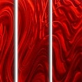 Statements2000 Huge Red 5 Panel Metal Wall Art Painting by Jon Allen - Red Hypnotic Sands Epic - Thumbnail 0