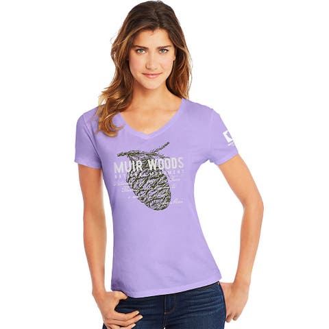 Hanes Muir Woods National Monument National Park Women's Graphic Tee - Color - Muir Woods/Two Pines/Salty Purple - Size - M