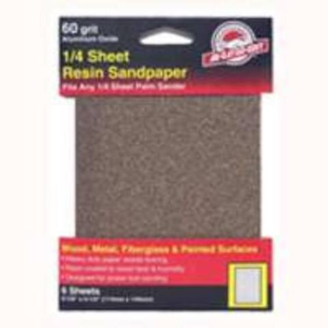 Gator 5033 Aluminum Oxide Sandpaper 1/4 Sheet, 60 Grit