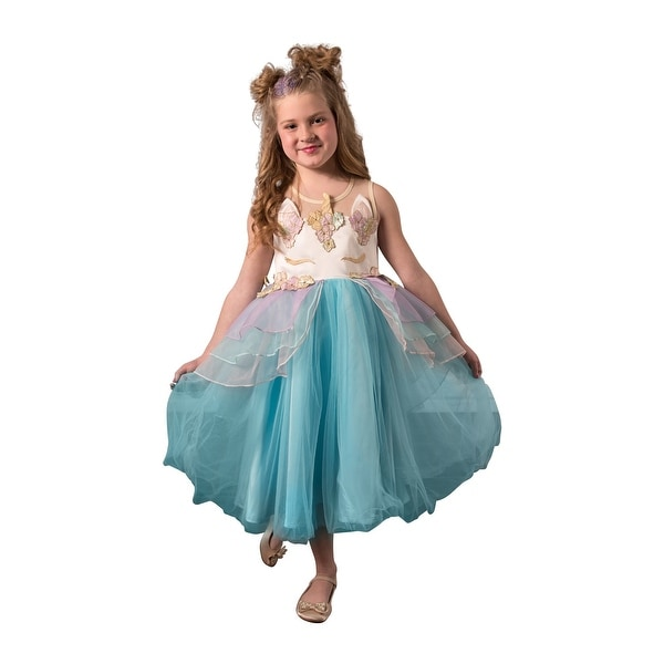 c51680562 Shop Little Girls Mint Blue Sleeveless Top Layered Skirt Unicorn Dress -  Free Shipping Today - Overstock - 23086187