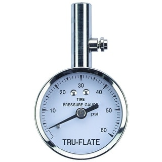 Plews 17-551 Dial Tire Gauge, 10-60 psi