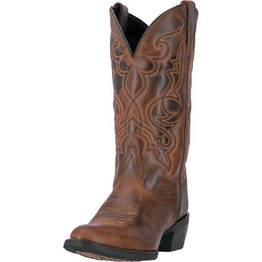 Laredo Western Boots Womens 11 Shaft Snip Toe CB Leather Rust