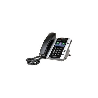 Refurbished Polycom 2200-44500-025 VVX 500 12-line Business Media Phone POE w/ HD Audio, Power Supply Excluded