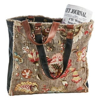 "Link to FLORIANA Women's Vintage Floral Print Canvas Tote Bag Purse Handbag, 15""x15""x4"" - Brown - One size Similar Items in Shop By Style"