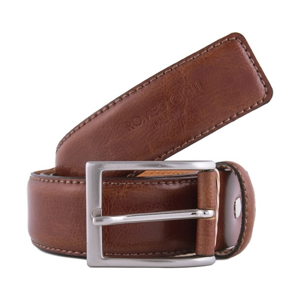 Romeo Gigli U284/35 TOBACCO Tan Leather Adjustable Belt
