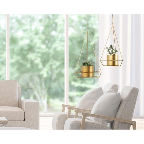 Kate and Laurel Gilly Pendant Planter Set - 2 Piece