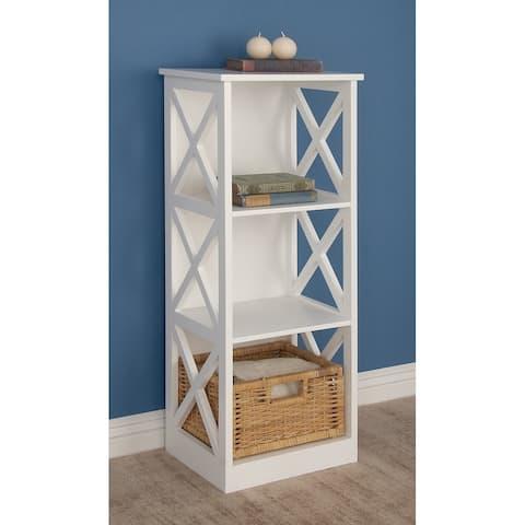 Farmhouse 3-Tier Wooden Cube-Shaped Shelf by Studio 350
