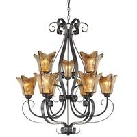 Millennium Lighting 7129 Chatsworth 9 Light Two Tier Chandelier