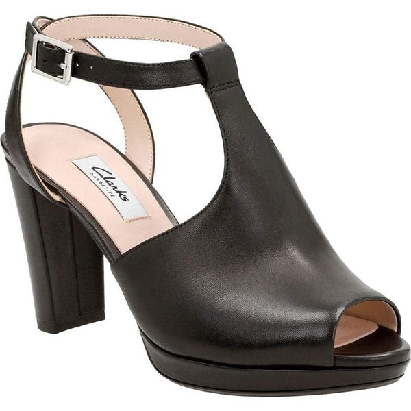 CLARKS Women's Kendra Charm Peep Toe Ankle Strap Sandal - 9.5