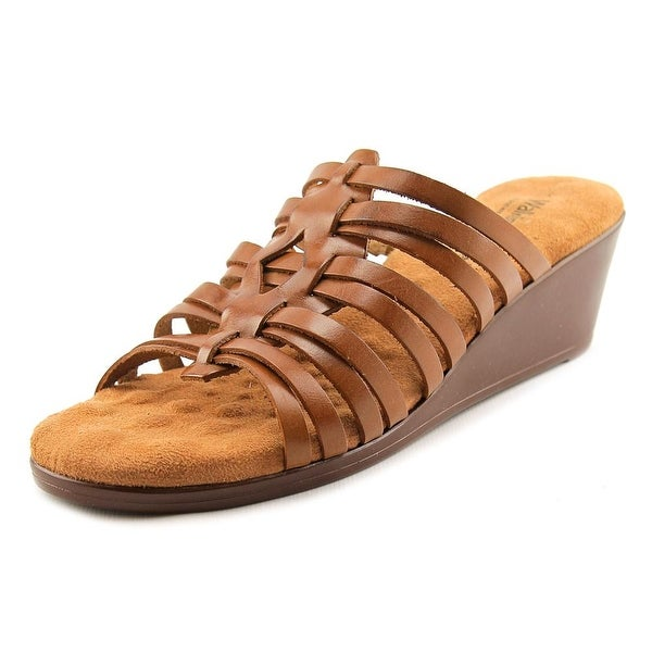 Walking Cradles Nelson Women N/S Open Toe Leather Wedge Sandal