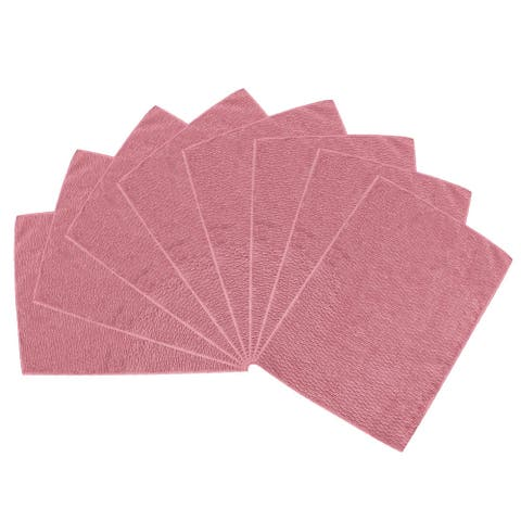 "Cleaning Cloth Towels 8pcs, 15.7"" x 11.8"" Highly Absorbent Dish Cloths Pink - 8pcs"