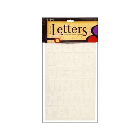 9-141 sei iron on art transfer letters sport 1 5 white