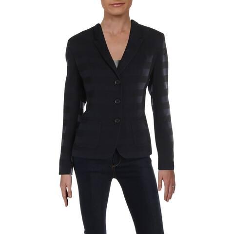 Basler Womens Knit Blazer Shadow Striped Professional - Seabreeze