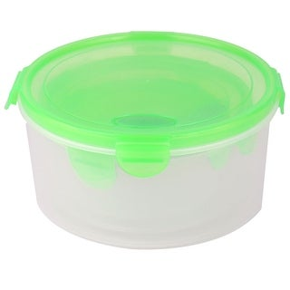 Unique Bargains Family PP Cylindrical Airtight Food Snack Storage Container 1300ML 3 in 1 Green