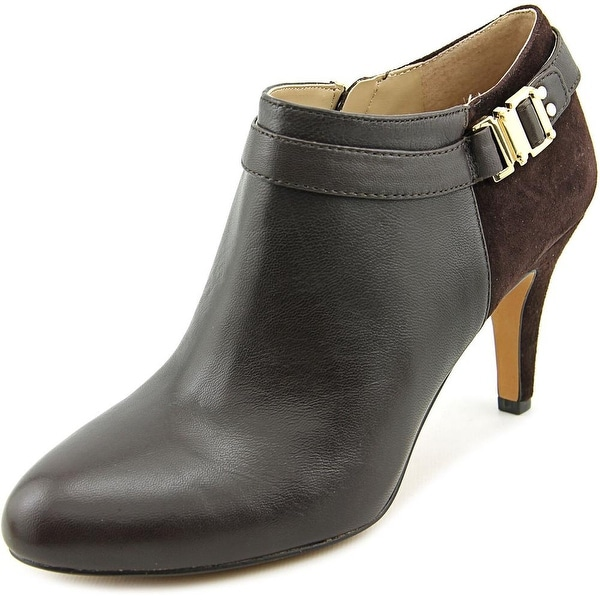 Vince Camuto Vanna Women Round Toe Leather Brown Bootie