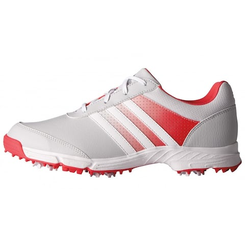 New Adidas Women's Tech Response Clear Grey/White/Core Pink Golf Shoes Q44710