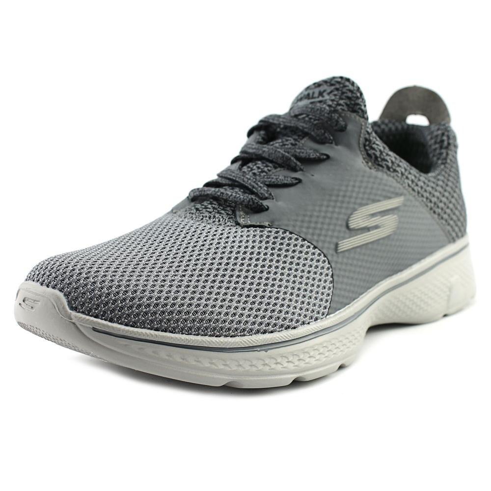 Skechers GoWalk 4 Instinct Men Round Toe Synthetic Gray Walking Shoe
