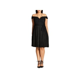 City Chic Womens Cocktail Dress Spaghetti Straps Suede
