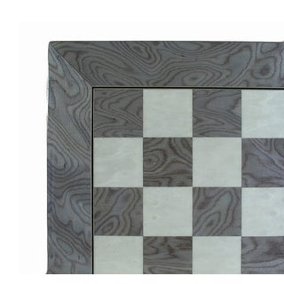 17 Inch Gray & Ivory Wide Frame Chess Board - grey