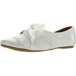 Not Rated Womens Fletcher Cove Oxford Flats Shoes - White - 6 b(m) us