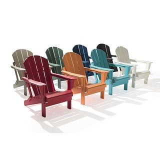 Link to Laguna Folding Recycled Plastic Adirondack Chairs (Set of 2) Similar Items in Outdoor Sofas, Chairs & Sectionals