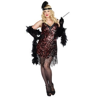 Dreamgirl Dames Like Us Plus Size Costume - Red