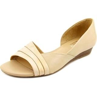 Naturalizer Jenah Women Open-Toe Leather Flats