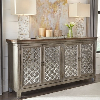 Link to Tracy White Dusty Wax 4-door Accent Cabinet Similar Items in Living Room Furniture