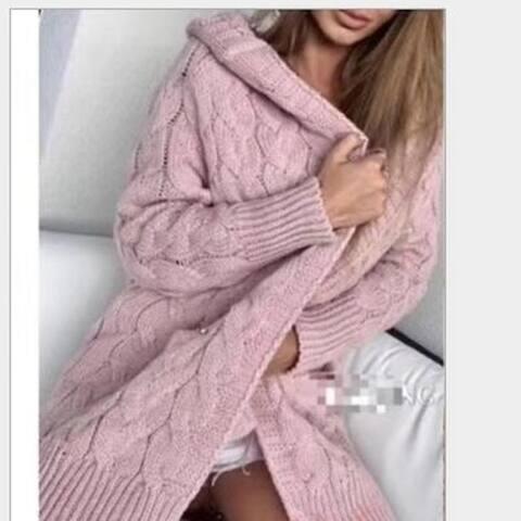 Women's Soft Chunky Knit Sweater Open Front Cardigan Outwear