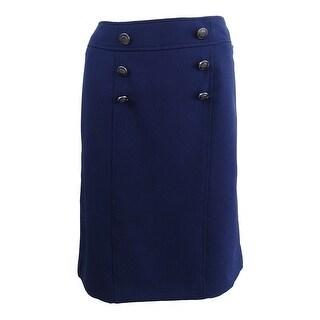 Kasper Women's Embellished Pencil Skirt - INDIGO