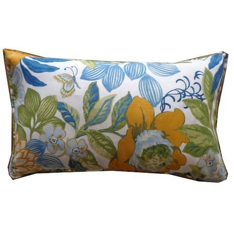 Jiti Multi Floral Country Sunbrella Outdoor Pillows - 12 x 20
