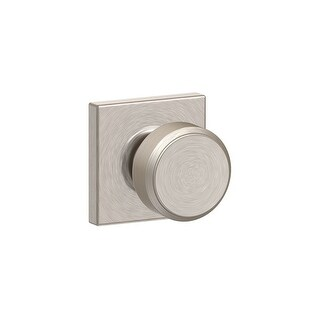 Schlage F10-BWE-COL  Bowery Passage Door Knob Set with Decorative Collins Trim - Satin Nickel