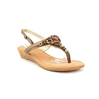 Rialto Greta Women Open Toe Synthetic Bronze Sandals